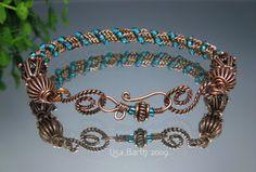 Spiral Woven Copper Cuff | JewelryLessons.com