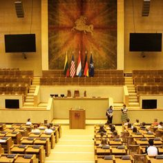 The unicameral parliment of Lithuania.  Vilnius/Lithuania