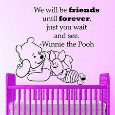 Winnie The Pooh Quote Wall Decals Bear Vinyl Nursery Room Decor Sticker MR349