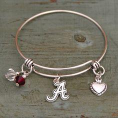 Alabama Crimson Tide 3 Charm Bracelet