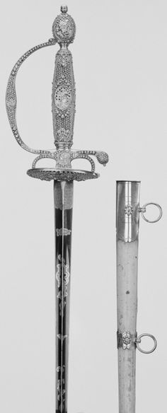 Small sword and scabbard 1781-83 Explore the Royal Collection online