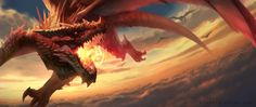 Imperial Dragon soaring through the clouds.