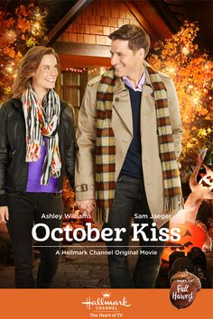 """Its a Wonderful Movie - Your Guide to Family Movies on TV: Hallmark Movie """"October Kiss"""" starring Ashley Williams"""