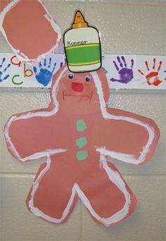 Gingerbread Man unit modify to fit younger kids needs Craft Activities For Kids, Christmas Activities, Christmas Crafts For Kids, Preschool Crafts, Gingerbread Man Activities, Gingerbread Men, School Themes, School Ideas, Kindergarten Language Arts