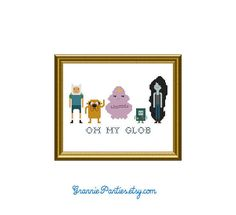 PDF PATTERN ONLY Adventure Time counted cross by granniepanties, $6.00 --- I might consider learning cross stitch for this.