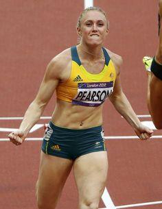 Sally Pearson, London 2012 Olympic Gold Medalist, 100m Hurdles, Australia. Love. her.