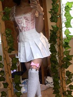 Pink Outfits, Edgy Outfits, Retro Outfits, Cute Casual Outfits, Fashion Outfits, Kawaii Fashion, Cute Fashion, Girl Fashion, Kawaii Clothes