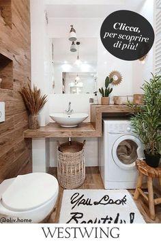 Bad Inspiration, Bathroom Inspiration, Interiors Online, Small Laundry, Laundry Room Design, Living Room Modern, Living Rooms, Bathroom Interior Design, Cheap Home Decor