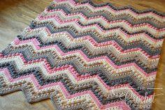 Ravelry: Hugs & Kisses Baby Blanket pattern by Jeanne Steinhilber
