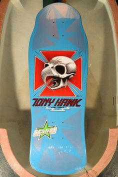 "NOS Skateboard Deck Powell Peralta Tony Hawk Skull ""2"" Second blemish. Original"