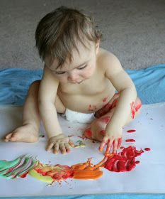 Scented Edible No-Cook Fingerpaint Recipe for Babies and Toddlers