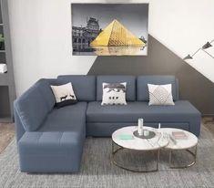 Sofa Bed Design, Living Room Sofa Design, Living Room Tv Unit Designs, Bedroom Furniture Design, Living Room Seating, Home Room Design, Cozy Living Rooms, Living Room Decor, Living Room For Small Space