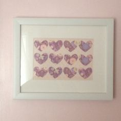 Small hearts in a frame