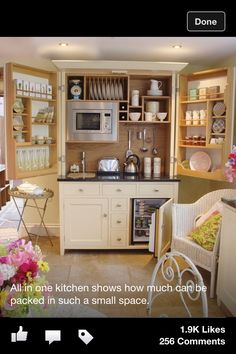 Micro kitchen - clever use of space!