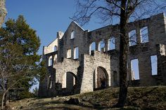 European castle ruins in an American state park are actually the product of death and grief