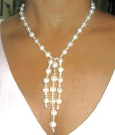Fresh Water Cultivated Pearl Necklace and by oceangirlcollection, $85.00