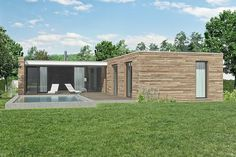 Projekt bungalovu Comfort | Energy-Domy Aesthetics, Outdoor Structures, House, Projects, Haus, Home, Homes