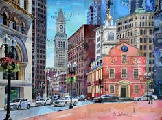 Old State House. Boston Collage Artist