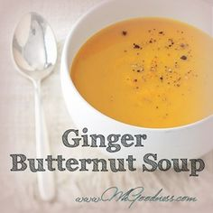 If you like the creamy, sweet taste of butternut squash, you will love this soup! A light hint of fresh pungent ginger and creamy coconut cream make this soup a hit with all my clients. Super easy to. Butternut Soup, Butternut Squash, Coconut Cream, Real Food Recipes, Mashed Potatoes, Super Easy, Paleo, Fresh, Ethnic Recipes