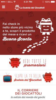 La Scatola dei Giocattoli app home.  Download here: https://itunes.apple.com/it/app/la-scatola-dei-giocattoli/id683250499?mt=8  https://play.google.com/store/apps/details?id=com.neosperience.mattel.android.lascatoladeigiocattoli