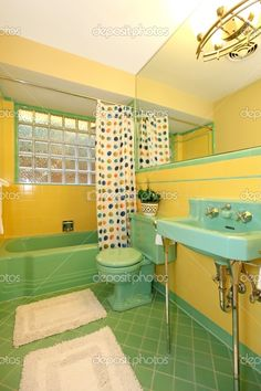 lime-green-and-yellow-bathroom-old-retro-design.jpg (633×950)
