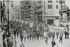 #TeachNYPL #History #NYC From the NYPL Digital Collections: Silent Protest parade on Fifth Avenue, New York City, July 28, 1917, in response to the East St. Louis race riot. In front row are James Weldon Johnson [far right], W. E. B. DuBois [2nd from right], Rev. Hutchens Chew Bishop, rector of St. Philip's Episcopal Church [Harlem] and realtor John E. Nail.