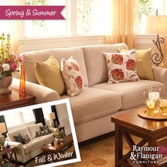 A Style for Every Season   Living Room Fall/Winter Look #RaymourandFlanigan