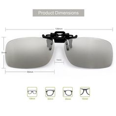 cae16ed75b5 Reald 3D Clip-on Glasses