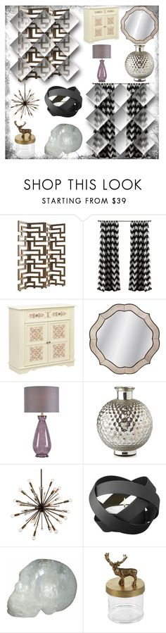 """""""Sem título #12974"""" by nathsouzaz ❤ liked on Polyvore featuring interior, interiors, interior design, home, home decor, interior decorating, Universal Lighting and Decor, WALL, Kenroy Home and Georg Jensen"""