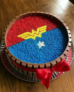 Wonder Woman Cake, Wonder Woman Birthday, Wonder Woman Party, Tea Party Birthday, Birthday Cake Girls, Birthday Party Decorations, Birthday Treats, Girl Superhero Party, Superhero Cake