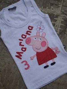 Camiseta Peppa Pig, para aniversários temáticos - R$ 45,00