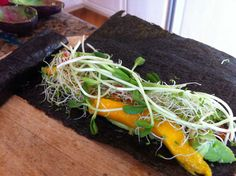 No Rice Raw Vegan Mango Sushi Before Rolling