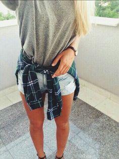 Flannel tied around your waste