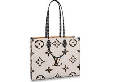 Buy and sell authentic handbags on StockX including the Louis Vuitton Onthego Monogram Giant Jungle Ivory/Havana Beige and thousands of other used handbags with resale price data. Lv Tote, Havana, Reusable Tote Bags, Ivory, Monogram, Buy And Sell, Louis Vuitton, Beige, Handbags