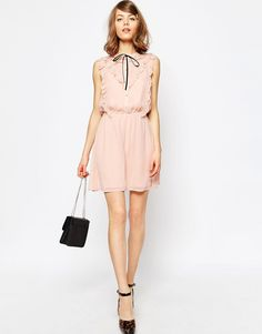 Image 4 of ASOS Frill Front Skater Dress