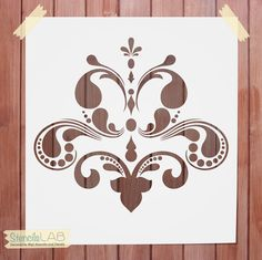 Damask Decorative Stencil for wall