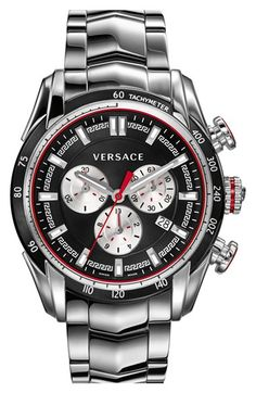 Versace 'V-Ray' Chronograph Bracelet Watch, 44mm available at #Nordstrom