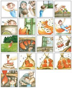 Pohádkové pexeso - Budulínek Story Sequencing, Too Cool For School, Teacher Hacks, Watercolor Illustration, School Projects, Teaching Kids, Fairy Tales, Kindergarten, Preschool