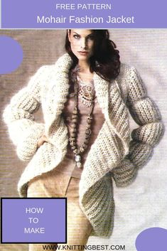 Fluffy warm sweater with fashionable proportions is made with mohair  needles. 5cb6663ea