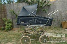 Hlavní fotografie k inzerátu Modrá Liberta Pram Stroller, Baby Strollers, Vintage Pram, Prams And Pushchairs, Baby Prams, Baby Carriage, Old And New, Retro, Dolls