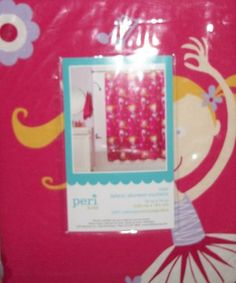 Peri Kids Fabric Pink with Ballerinas Shower Curtain & MatchingTowel Set NIP $10% off sale!! $40.49