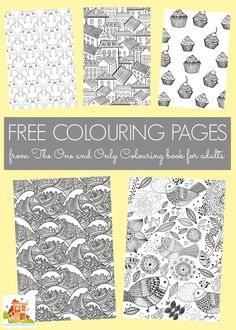 free colouring pages from The One and Only Colouring book for adults
