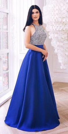 23a100f86e367 elegant royal blue long prom dress, 2019 prom dress, long prom dress,  sparkle