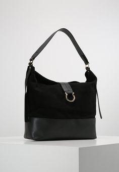 Womens Slouchy D Ring Tote Messenger Bag Black (Black) Warehouse WdbD0jPH