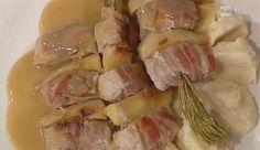 La ricetta degli spiedini di maialino con pancetta da La prova del cuoco