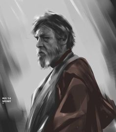 Star Wars Episode VII The Force Awakens fan art of Jedi Master Luke Skywalker Star Wars Vii, Star Wars Luke, Kit Fisto, Saga, Mara Jade, Episode Vii, Mark Hamill, Star Wars Poster, Star Wars Collection