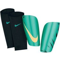 Nike Mercurial Lite Soccer Shin Guards - Teal/Yellow