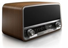 Philips Original Radio - Inspired by the iconic design of the popular 1950s Philips Philetta radio. The radio  features iPhone/iPod docking, DAB+ digital radio and FM radio.