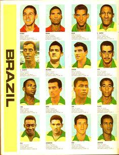 Brazil Football Team, Brazil Team, Best Football Team, World Football, School Football, Football Players, Soccer Cards, Football Cards, 1966 World Cup Final