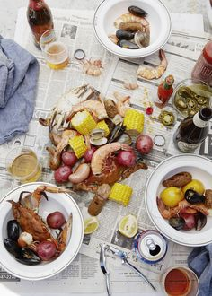 A classic seafood boil for the 4th. #goopcookbookclub #smokeandpickles